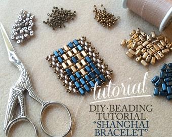 DIY ENG Beading Tutorial Shanghai Bracelet / Step-by-step beading pattern / Tutorial / Pdf beading pattern
