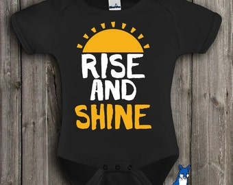 Sunshine baby clothes-Rise and Shine-Baby clothing-Country baby clothing-Cute baby gift-baby bodysuit-baby shirt-Blue Fox Apparel,283