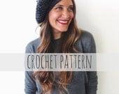 PATTERN for Crochet Beret Parisienne French Hat // La Tour Eiffel Beret PATTERN