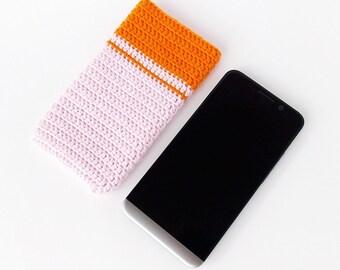 Pink Nexus 5 cozy, BlackBerry sock, Orange Pink LG G2 phone case, pink Galaxy S4 pouch, Lumia 830 sleeve, Moto X2 cover, Xperia Z soft case