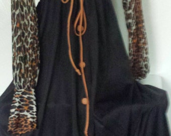 Vintage Vanity Fair lounge wear leopard gown