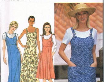 Size 18- 22 Misses' Dress Sewing Pattern - Scoop Neck Jumper Dress Pattern - Sun Dress Sewing Pattern - Plus Size Pattern - Simplicity 8119