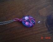 Light blue, round pendant gift female OOAKHandmade Jewelry