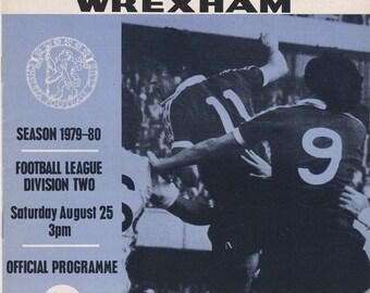 Vintage Football (soccer) Programme - Chelsea v Wrexham, 1979/80 season