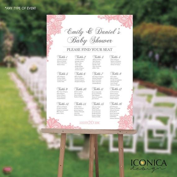 Seating Chart Board Elegant Baby Shower Seating Chart Guest List - Event seating chart template