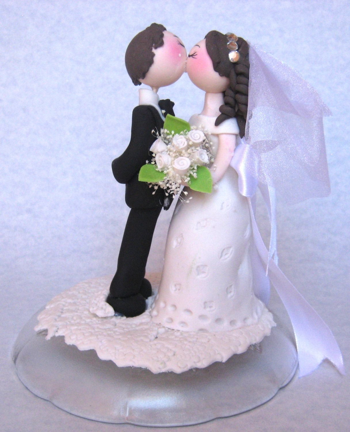 Make Your Own Wedding Topper: Wedding Cake Topper Romantic Wedding Cake Topper Groom