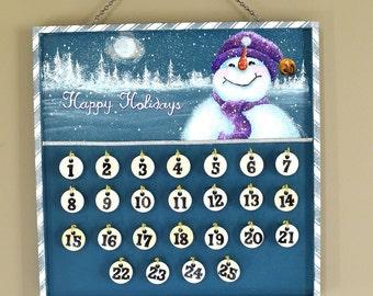 Christmas Countdown Advent Calendar Snowman Children
