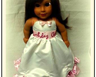 18 inch doll birthday party  dress  birthday girl