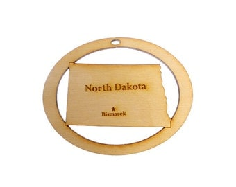 North Dakota Ornament - North Dakota State Ornament - North Dakota Personalized Gift - Personalized Free