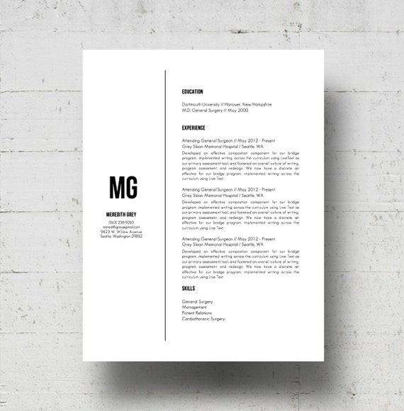 Resume Template Cover Letter Template The Sara By Phdpress: Resume Template & Cover Letter Template W/Reference Page