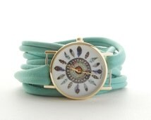 PICK your COLOR Round BOHO Wrap Watch Bracelet Stretch Wrist Watch Fashion accessory Women Teens Wrist Tattoo Cover
