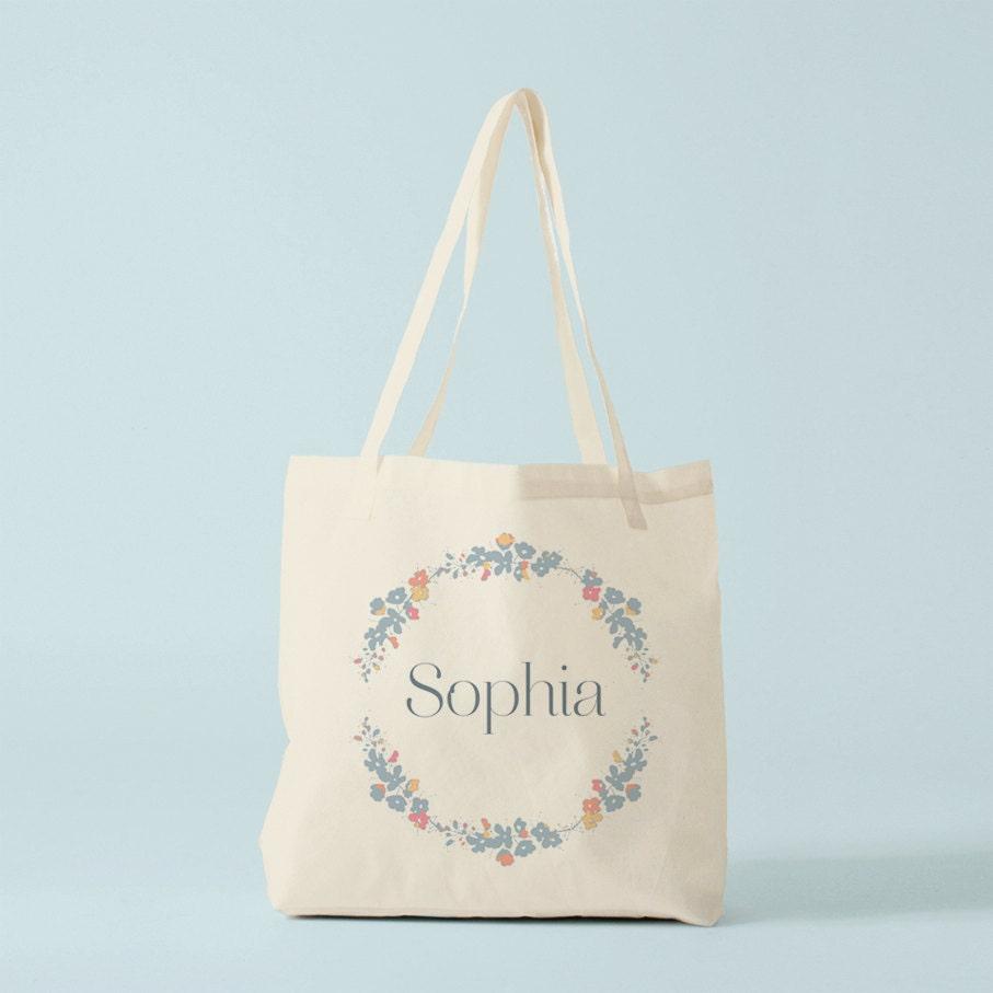 tote bag personnalis avec le pr nom de votre choix sac en. Black Bedroom Furniture Sets. Home Design Ideas