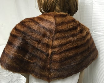 Mink stole, fur stole ,brown, wrap, shawl,Vintage furs,1950s,1960s,red mink fur