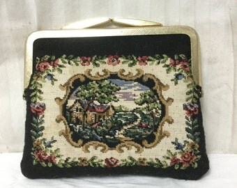 Free Ship,tapestry purse, Rose, Tapestry, Kiss Lock Coin Purse,small