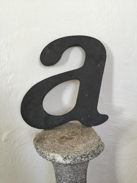 sale metal vintage letter a large metal letters. Black Bedroom Furniture Sets. Home Design Ideas