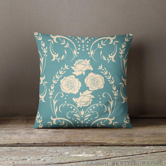 Teal Decorative Bed Pillows : Decorative pillows for bed Teal pillows Throw by ReStyleGraphic
