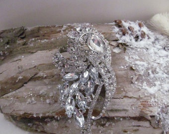Brooch, wedding brooch, crystal brooch, large cz brooch, marquise brooch, bridal brooch, bridesmaid brooch, wedding accessories
