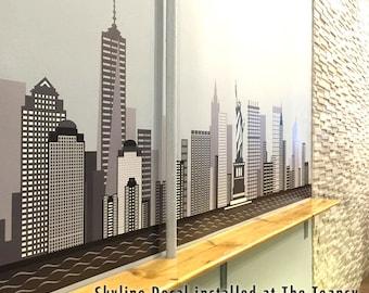 NEW YORK City NY Skyline Wall Decal Art Freedom Tower Printed