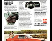 1979 Dodge Challenger vintage print ad- The GT Import from Japan- Ephemera, to frame, nostalgia, reference