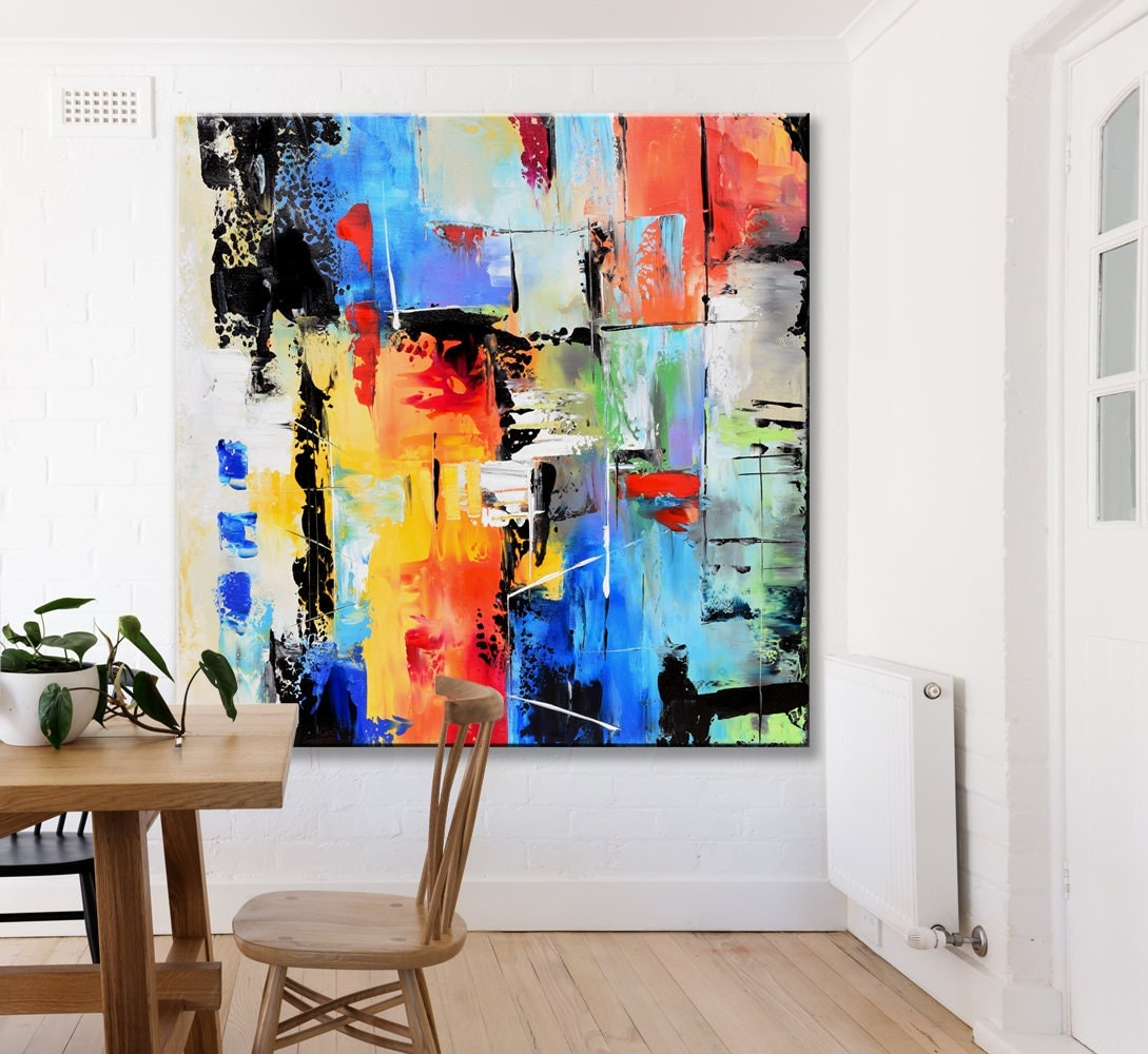 Abstract painting contemporary wall art extra large abstract for Wall artwork paintings