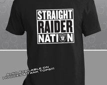 Oakland Raiders Straight Raider Nation T-Shirt