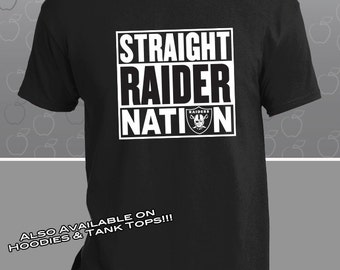Oakland Raiders Straight Raider Nation T-Shirt