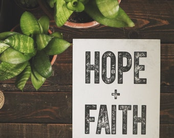 Art Print: Hope and Faith - 8 x 10 in.
