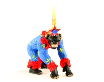 """Party Animal """"Chad"""" Chimp- painted carnival, circus, and birthday decor"""