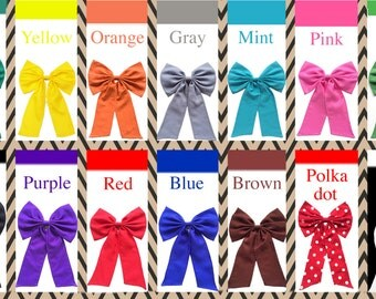 Attachable Bow for tank top - Bow tank top - bow - gift - tank top bow - cute bow - bow team
