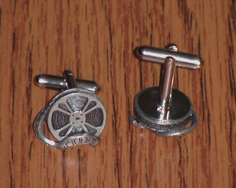 Pewter Film Reel Cufflinks - Please Pay by PayPal
