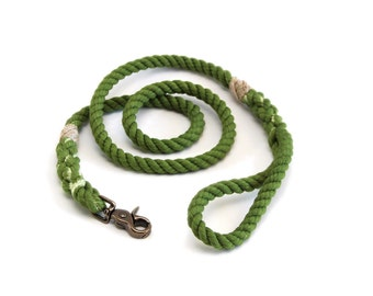 4 FT Earth Green Rope Dog Leash