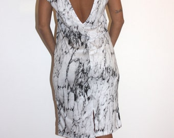 Marble printed dress