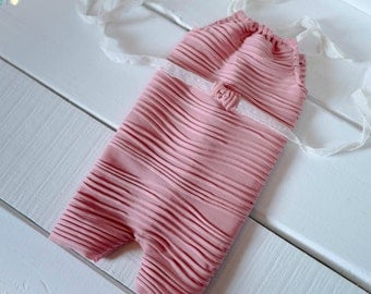 Newborn Pink Outfits and Tiebacks