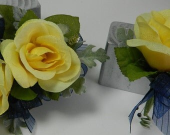 YELLOW ROSE WRISTLET and Boutonniere
