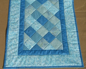 Turquoise Patchwork table runner