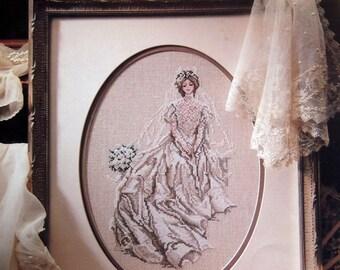 The Bride By Carol Emmer Vintage Cross Stitch Pattern Leaflet 1991