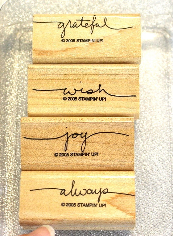 Stampin Up Stamp Set Retired Stampin Up Rubber Stamp Small