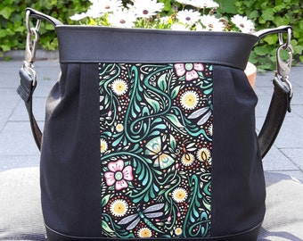 Shoulder bag with Dragonfly and Fireflies