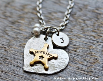 Sheriff Necklace, Sheriff's Badge, Law Enforcement, Sheriff's Deputy Necklace