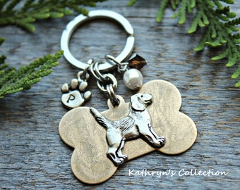 Beagle Key Chain, Beagle Gift, Dog Breed Key Chain, Dog lover Gift, Beagle Lover