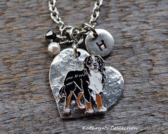 Bernese Mountain Dog Necklace, Bernese Mountain Dog Jewelry
