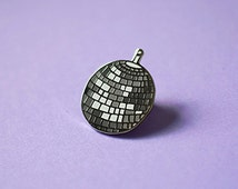 Disco Ball Enamel Pin, Party Time Pin, 70's Retro Pin, 70s accessories