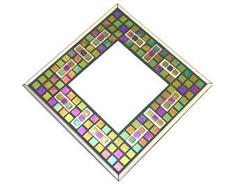 Mosaic Mirror - Purple / Green / Blue / Brushed Bronze / Iridescent