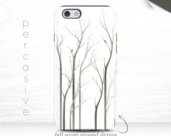 iPhone 6 Case Nature iPhone 6s Plus Grey iPhone 6 iPhone 7 Cover Birds iPhone 5c Case , 5s Case Tree iPhone 6s Case, Galaxy S7 case  02j