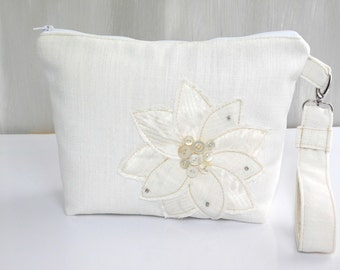 Wedding Clutch Bag, Bridal Bag, White Clutch Purse, Brides Purse, White Purse for Bride, Wedding Purse, Bridal Purse, White Evening Bag