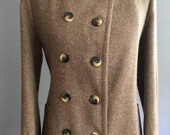 60's Gemini Tweed Wool Coat Jacket (S/M)