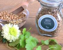 RUSTIC HERB & SPICE labels - Editable Labels - Printable Herb, Spice Jar Labels - Sketchy Handwritten Modern - Editable pdf - Custom Colours