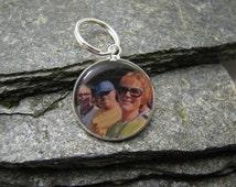20mm Round Custom Photo Charm / Slider Bracelet Charm / Pandora Bracelet Charm