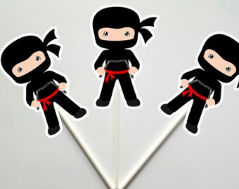 Ninja Cupcake Toppers