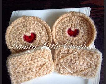 Crochet Biscuits pretend food